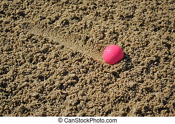 rosa, pelota de golf