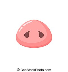 rosa, pig., maiale, fondo, naso, anno, bianco