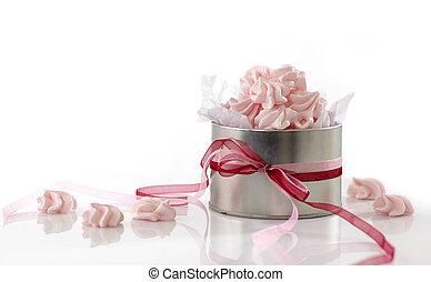 rosa, pl�tzchen, meringe