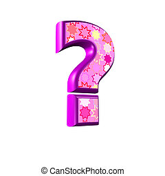 rosa, punkt, freigestellt, verhör, hintergrund, weißes, 3d