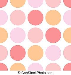 rosa, puntos, dulce, polca, plano de fondo, oscuridad, patrón, seamless, pastel, vector, bebé