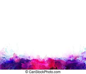 rosa, purpur, Fläckar, lila, färg, abstrakt,  element, vattenfärg, bakgrund, lysande, artistisk, violett