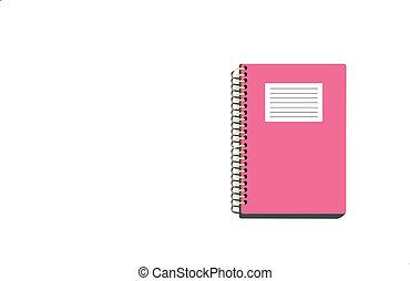 rosa, quaderno