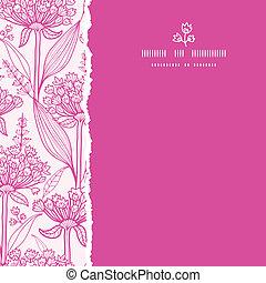 rosa, quadrato, modello, strappato, seamless, fondo, lillies, lineart