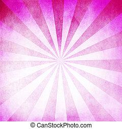 rosa, raggi, fondo, struttura, vuoto