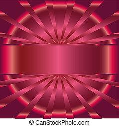 rosa, raggi, posto, fondo