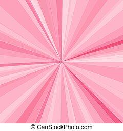 rosa, raggi, raggi, illustrazione, fondo., luminoso, vettore, disegno, tuo
