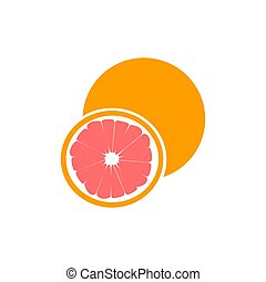rosa, recorte, maduro, fruta cítrica, aislado, toronja, fruta, plano de fondo, mitad, trayectoria, blanco