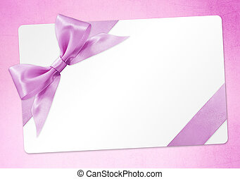 rosa, regalo, isolato, arco, nastro, fondo, scheda