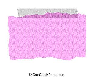 rosa, registrato, carta