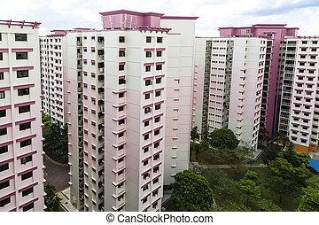 rosa, residencial, propiedad