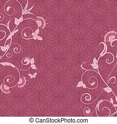 rosa, resumen, floral, plano de fondo