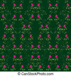 rosa, resumen, seamless, rojo, patrón