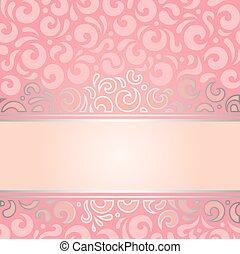 rosa, &, retro, bakgrund, silver