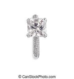 rosa, ring., diamant