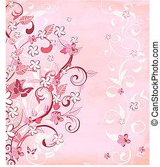 rosa, romantico, fondo