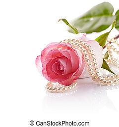 rosa, rosa, Cuentas, perla