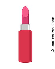 rosa, rossetto, icona