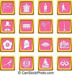 rosa, södra korea, ikonen