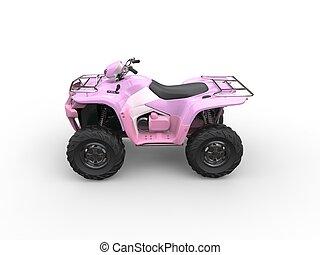 rosa, söt, wheeler, -, fyra