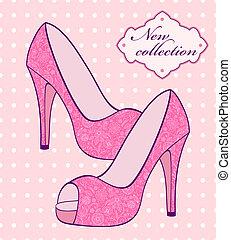 rosa, scarpe, femmina