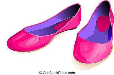 rosa, scarpe