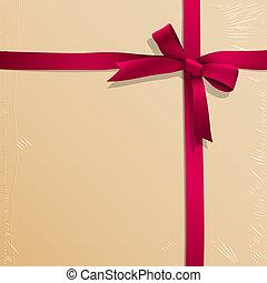 rosa, scatola, nastro, legato, caramella