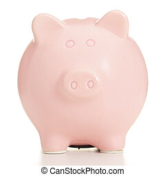 Rosa, Schweinchen,  bank