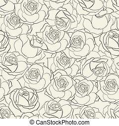 rosa, seamless, fondo.