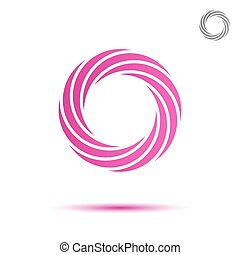 rosa, segmentar, espiral, circular