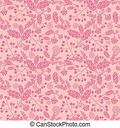 rosa, silueta, flores, seamless, patrón, plano de fondo