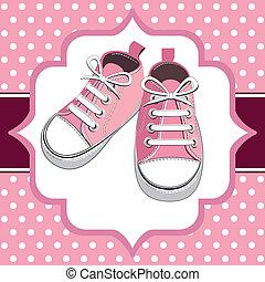 rosa, skor