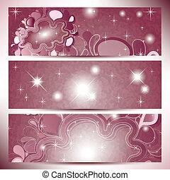 rosa, skyn, färg, abstrakt, solglasögoner, baner