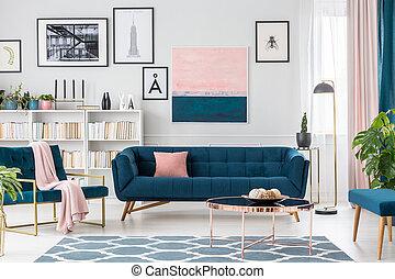 rosa, soggiorno, dettagli
