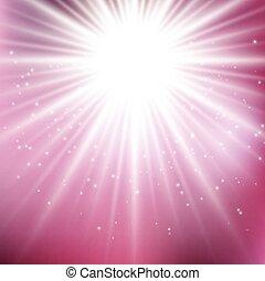 rosa, starburst, fondo