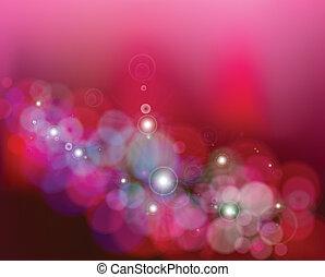 rosa, stars., astratto, vettore, fondo