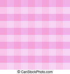rosa, stoffa, checkered