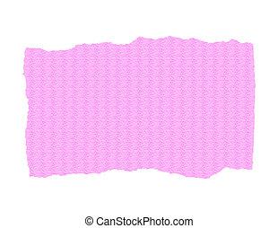 rosa, strappato, carta, -, textured