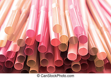 rosa, stroh, blaß, hintergrund, plastik