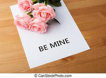 rosa subió, para, valentine, día