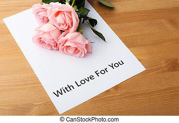 rosa subió, y, amor, mensaje