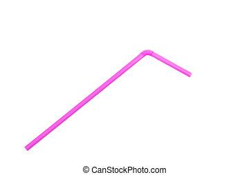 rosa, sugrör, vita, bakgrund