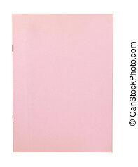 rosa, täcka, isolerat, bok, bakgrund, tom, vit