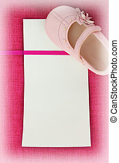 rosa, tarjeta, vacío, tela, textura