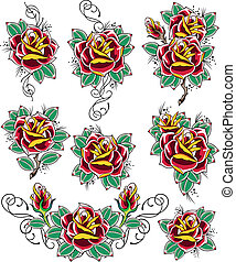 rosa, tatuaggio