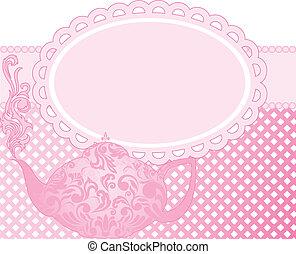 rosa, teiera