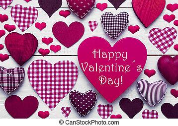 rosa, testo, valentines, cuori, felice, giorno, struttura