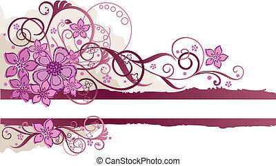 rosa, texto, estandarte floral, espacio