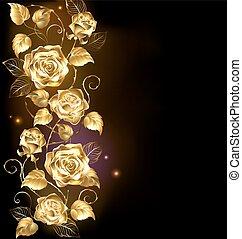 rosa, torcido, oro