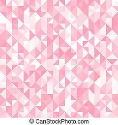 rosa, triangel, kristall, abstrakt, illustration, bakgrund., vektor